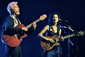David Byrne and St. Vincent tour photo